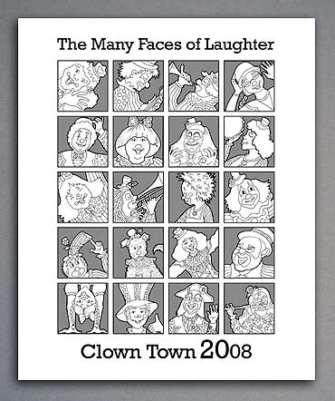 Bulletin cover for ClownTown 2008 worship service