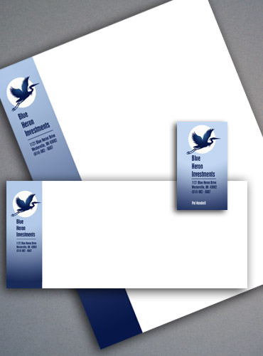 Blue Heron Investments stationery.