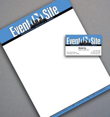 Event In Site stationery.