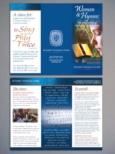 Women and Hymns workshop brochure
