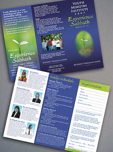 Youth Ministry Institute brochure.