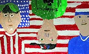 Thumbnail - 5th grade ceiling tile self-portraits