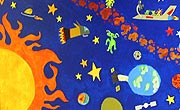 Thumbnail - Robert Frost Outer Space mural